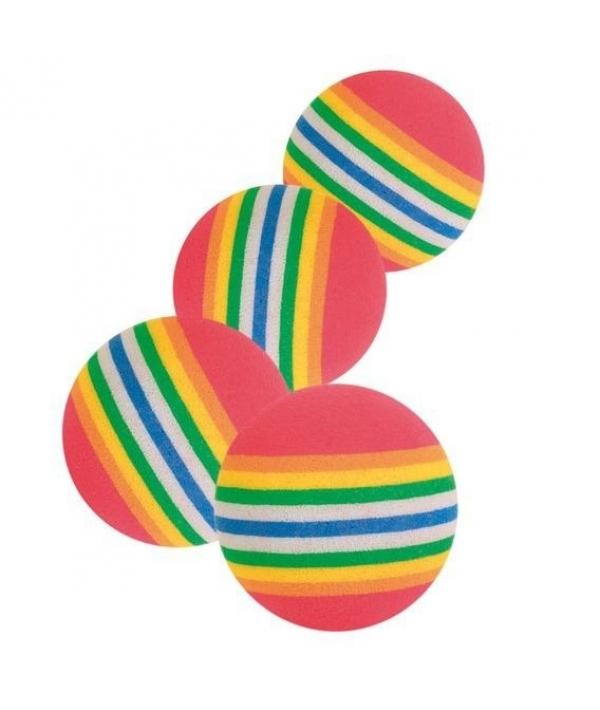 Набор радужные мячи 3,5 см, 4шт. 4097