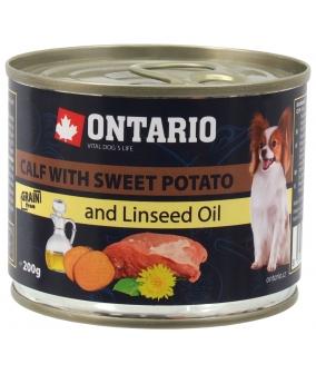 Консервы для собак: телятина и батат (OTARIO Mini – Calf, Sweetppotato, Dandelion and linseed oil 200g) 214 – 2016