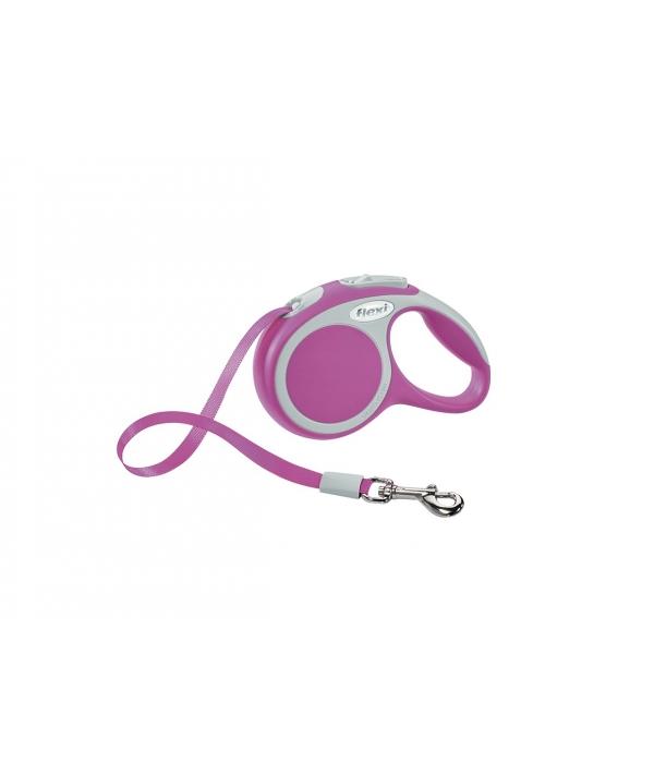 Рулетка – ремень для собак до 12кг, 3м, розовая (Vario XS tape 3m pink)