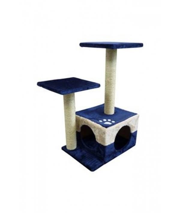 Когтеточка Вена 45 x 34 x 70см голубо – бежевая/ Scratcher Vienna 45 x 34 x 70 cm blue/beige 210141