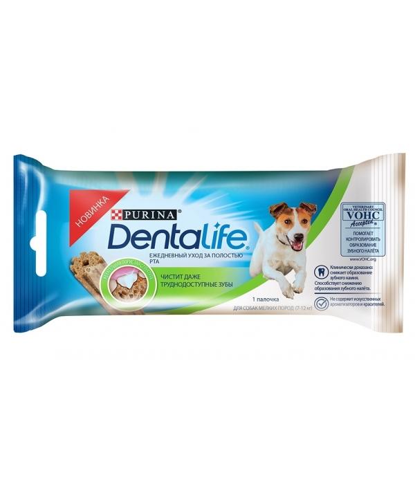 Лакомство для собак малых пород Здоровые зубы и десна DENTALIFE Small Single 12366294