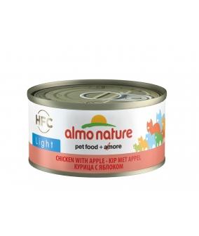 Низкокалорийные консервы для кошек с курицей и яблоком (HFC ALMO NATURE LIGHT CATS CHICKEN AND APPLE) 9417H