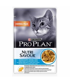 Паучи Кусочки в соусе для кошек с треской (Derma) 12342771