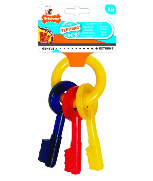 Ключи для щенков с режущимися зубами, аромат бекона, XS (Puppy Teething Keys) 981485EU