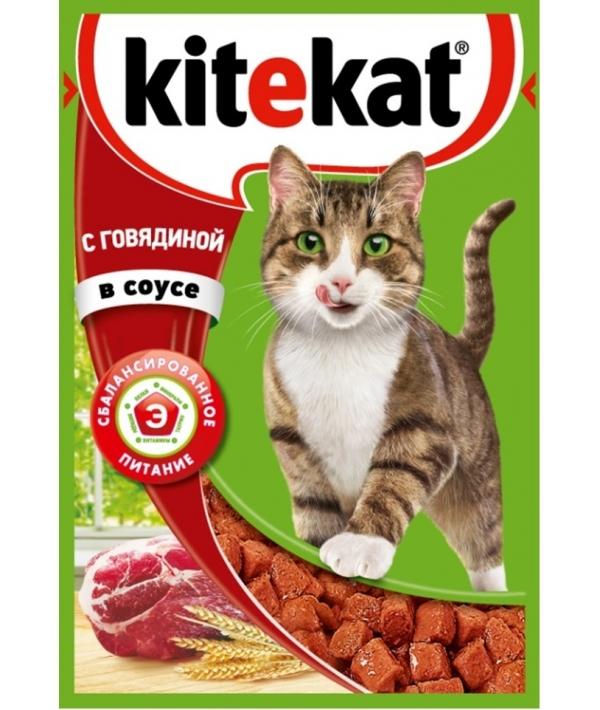 Паучи с говядиной в соусе для кошек 10151296