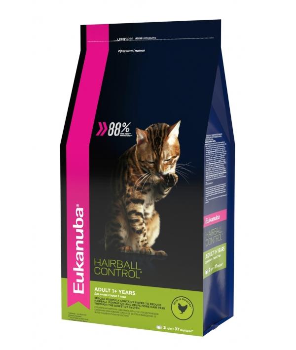 Для взрослых кошек редко выходящих на улицу с курицей, вывода шерсти (Adult Hairball Control) 10144216