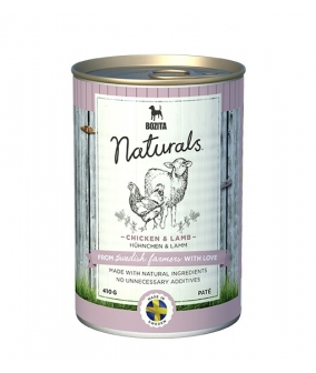 Naturals консервы для собак с курицей и ягненком