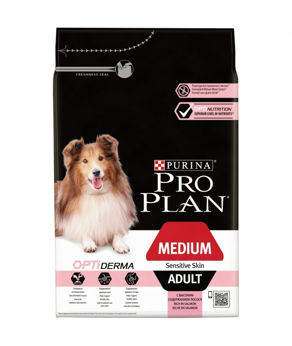 Для взрослых собак средних пород с чувств. кожей с лососем и рисом (Medium Adult Sensitive) – 12272211/12381684