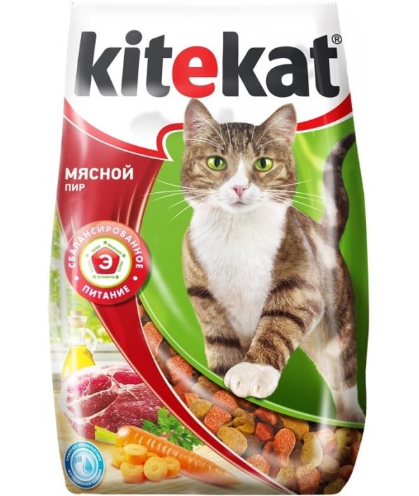 Сухой корм для кошек мясной пир 10132144