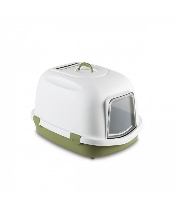 Туалет закрытый Super Queen, с угольным фильтром, зеленый, 71x55x46,5 (96872)
