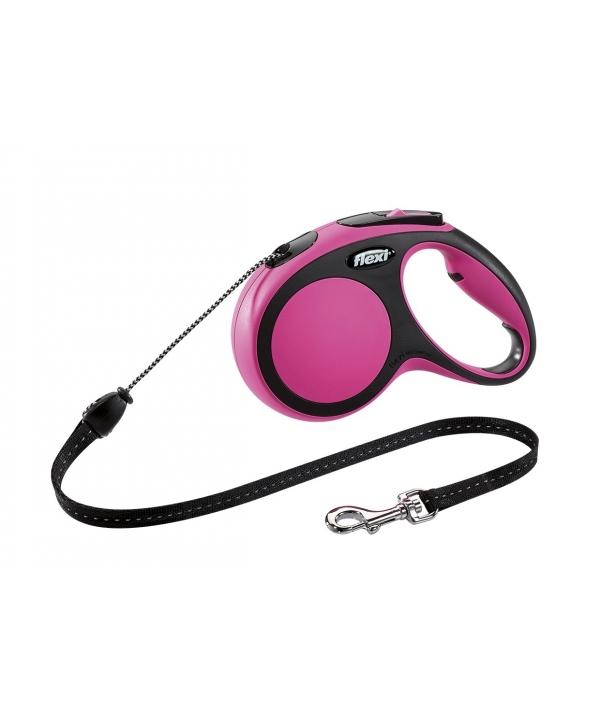 Рулетка – трос для собак до 12кг, 5м, розовая (New Comfort S Cord 5 m, pink)