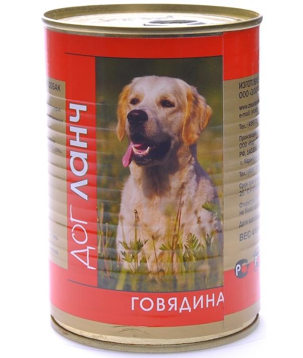 Консервы для собак Говядина (28994/55186)