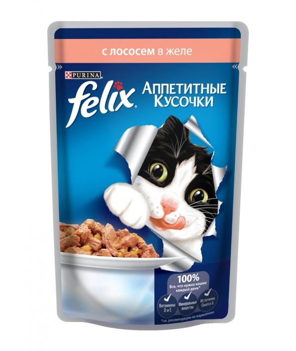 Кусочки в желе для кошек с лососем 12114151/12318918