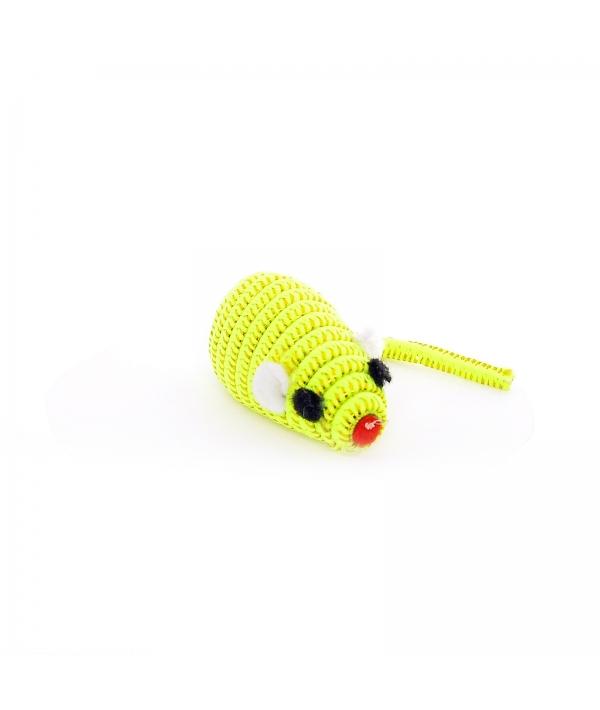 """Игрушка для кошек """"Светоотражающая Мышка с погремушкой"""", желтая, 5см (Mouse fluorescent yellow) 240041"""