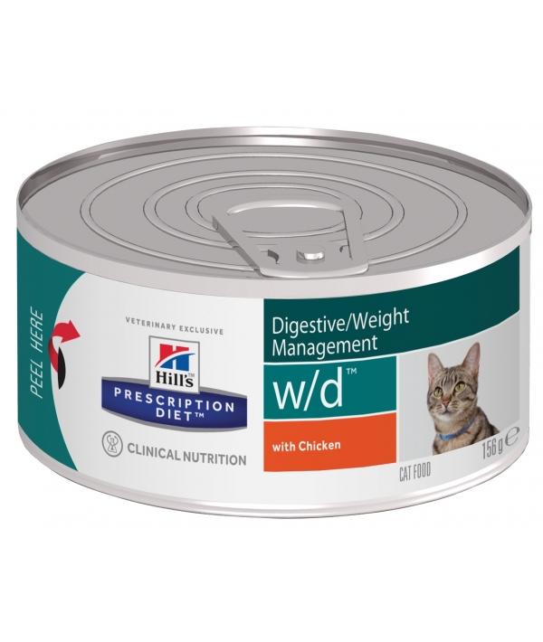 Консервы W/D для Кошек – Лечение сахарного диабета, запоров (Low Fat/Diabet) 9455F