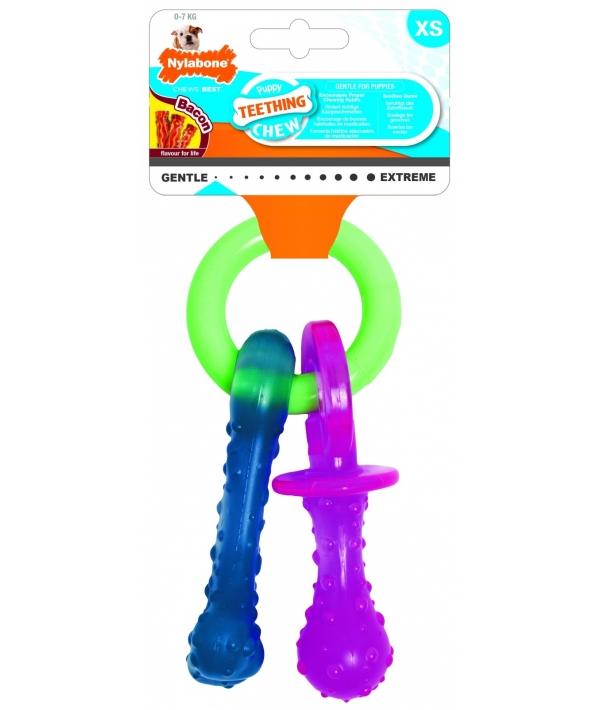 Соска для щенков с режущимися зубами, аромат бекона, XS (Puppy Teething Pacifier) 982087EU