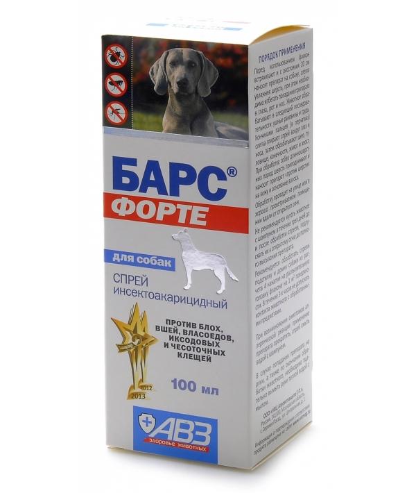 Барс Форте Спрей для собак от блох и клещей (фипронил) АВ737