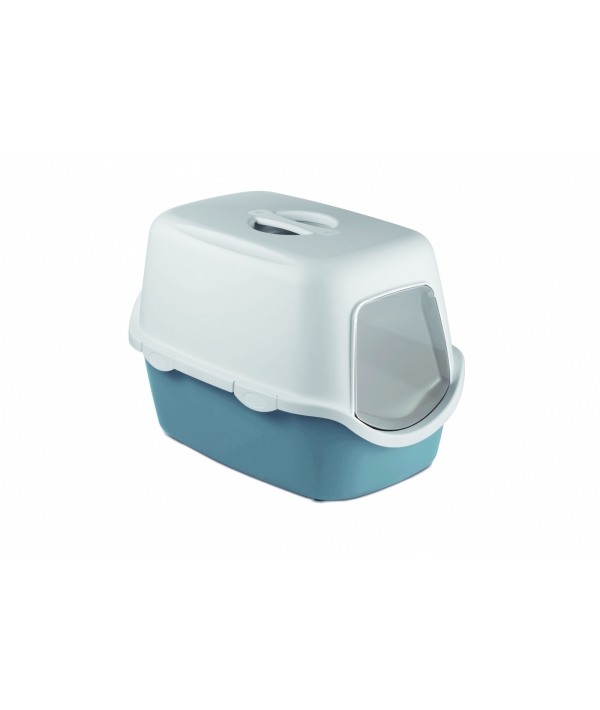 Туалет закрытый Cathy, синий с угольным фильтром, 56*40*40см (TOILETTE CATHY FILTER BLU ACCIAIO/BIANCO) 98647