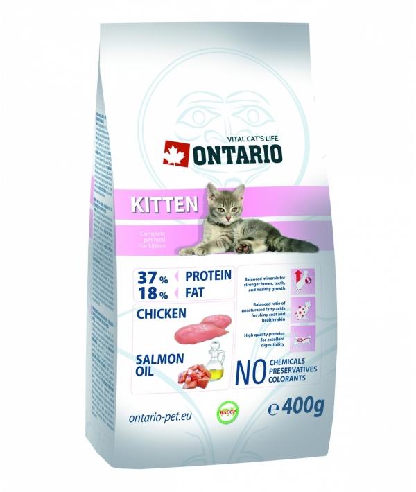 Для котят с курицей (ONTARIO Kitten 0,4kg) 213 – 0004