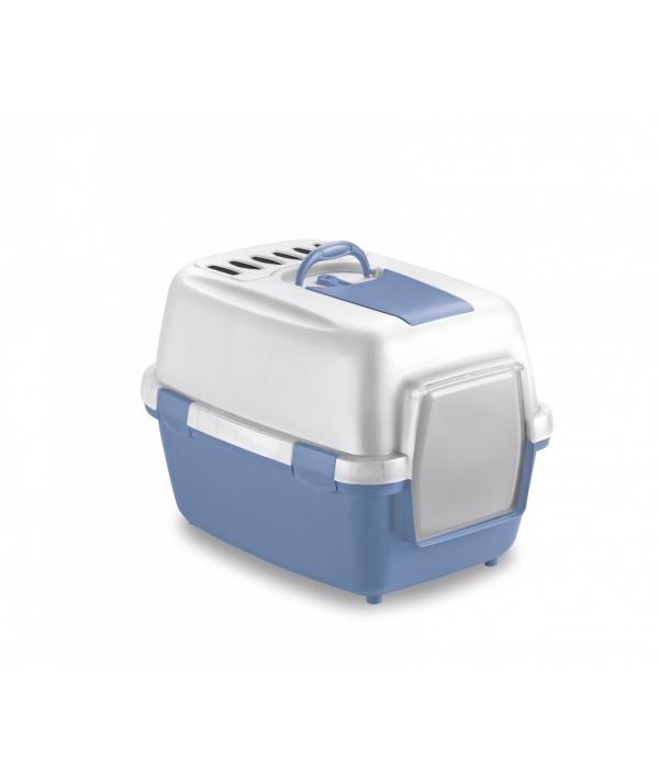 Туалет закрытый Wivacat, с угольным фильтром, голубой, 55*40*40см (97581)