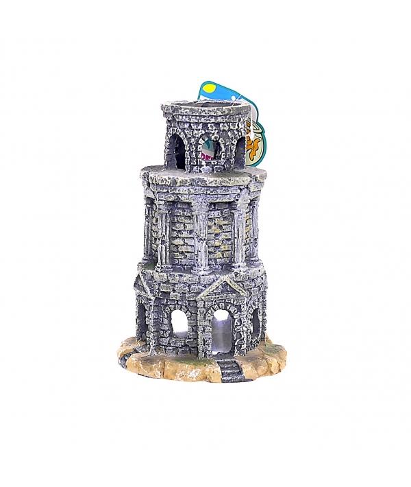"""Аквадекор – Башня """"Сторожевая"""", 13*13*19см пластик (5626099)"""