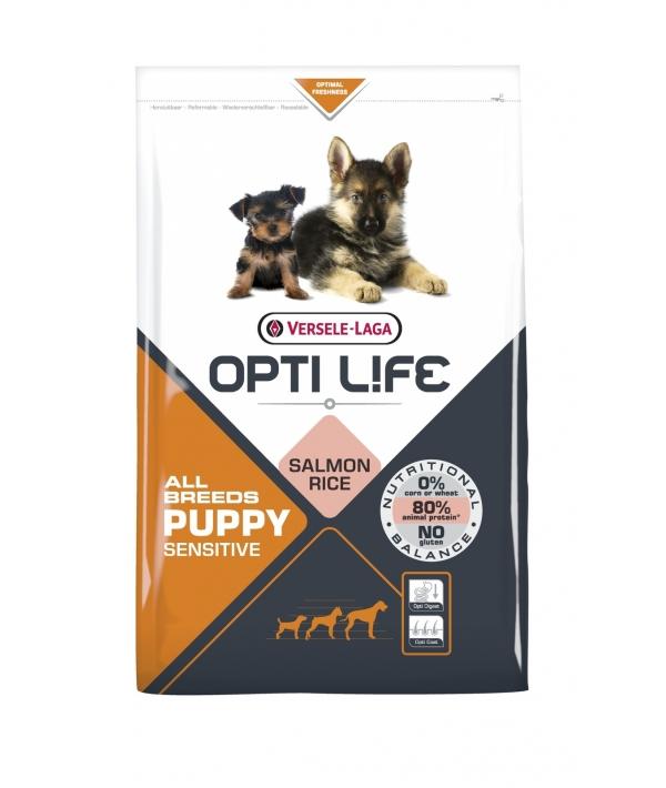 Для щенков с чувствительным пищеварением с лососем и рисом (Opti Life Puppy Sensitive All Breeds) 431163