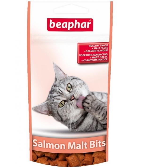 Лакомство для вывода шерсти, лосось (Malt Bits Salmon), 75шт. (12621)