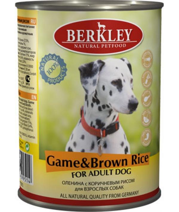 Консервы для собак с олениной и коричневым рисом (Adult Game&Brown Rice)