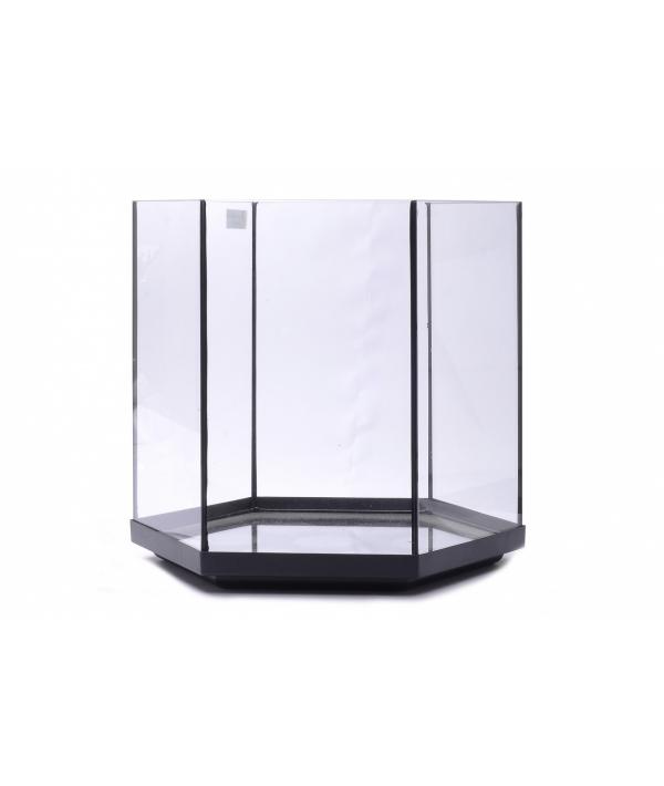 Аквариум шестиугольный, 38*41*41 см (Glass fish tank hexa 3) 4493