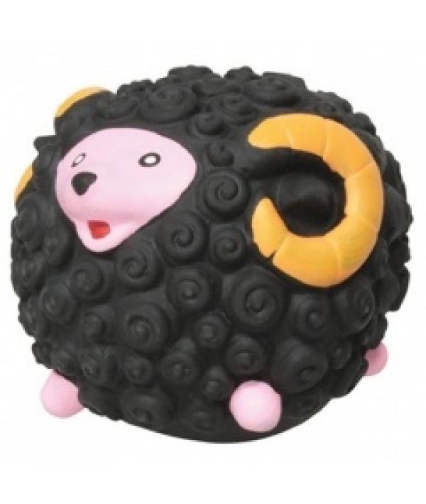 """Игрушка """"Черный барашек"""" для собак, 7см, латекс (5620062)"""