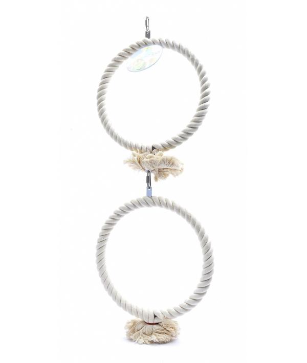 """Игрушка для попугаев """"Двойное мега кольцо"""" 2*32 см (Coco super toy 2 rings 2x32 cm) 14446"""
