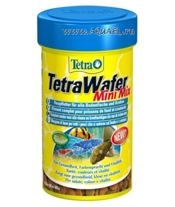 Корм для донных рыб (раки, креветки, сомики), таблетки WaferMix 100 ml 140066