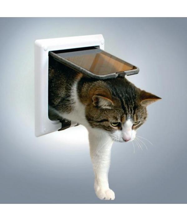 Дверца для кошки (15,8х14,7см), с 4 функциями, белая.38641