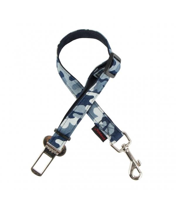 """Ремень для пристегивания """"Бобби"""", размер L (ширина 2 см, длина 43,5 – 77см), синий камуфляж (BOBBY SEATBELT/NAVY CAMO/L) PARA – SL1523 – NC – L"""