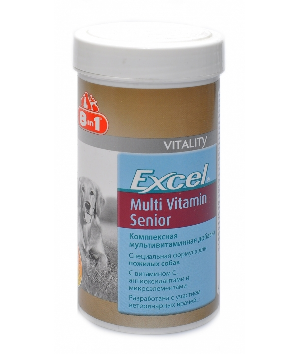 Мультивитамины для пожилых собак Excel Multi Vitamin Senior, 70таб. 108696