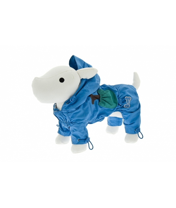 "Комбинезон для прогулки с принтом ""Косточка"" (голубой) на длину 30 см (TUTINA IMPERMEABILE FUSS – BONE AZZU) ABF17/30 – AZ"