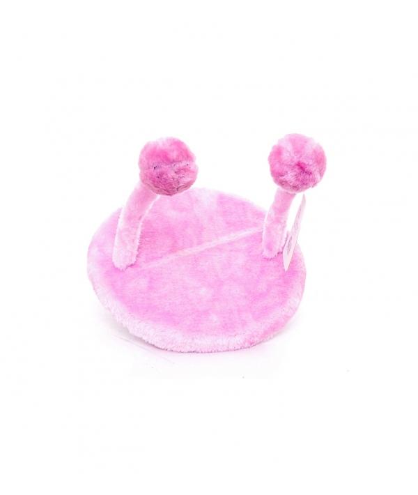 Игрушка для кошек НЛО 20х25см розовая, плюш / Cat toy UFO 20 x 25 cm pink 240102