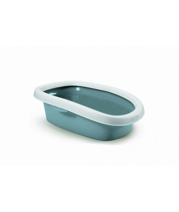 Туалет Sprint – 10 с рамкой,синий, 31*43*14 (TOILETTE SPRINT 10 BLU ACCIAIO/BIANCO) 96582
