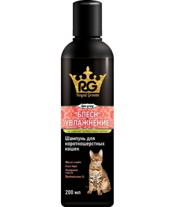 Royal Groom шампунь блеск и увлажнение для короткошерстных кошек