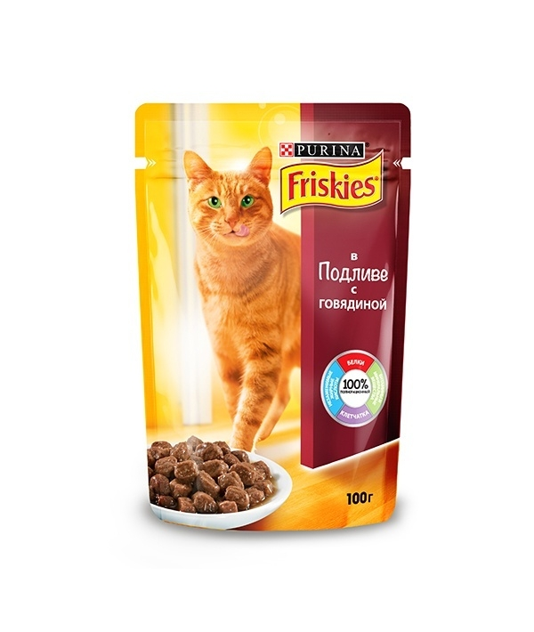 Кусочки в подливе Говядиной для кошек 12227702