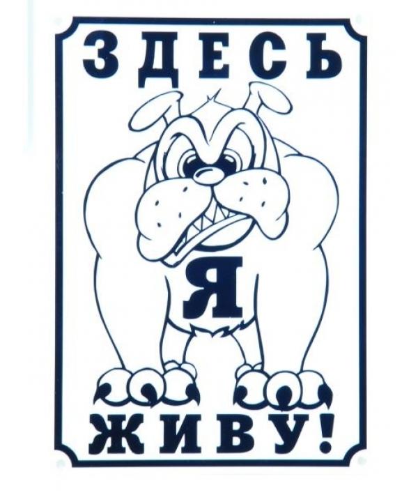 """Табличка """"Здесь живу я!"""" 24*17 см (0013)"""