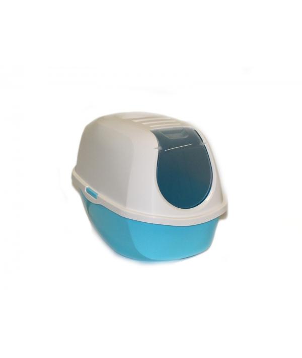 Туалет – домик SmartCat с угольным фильтром, 54х40х41см, небесно – голубой