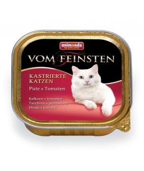 Консервы для кастрированных кошек с индейкой и томатами (Vom Feinsten for castrated cats)001/83227