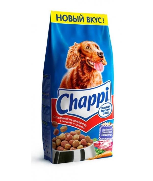Сухой корм для собак с говядиной сытный мясной обед 7155
