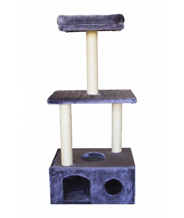 Домик – когтеточка Мегаполис,серый, 50*36*114, джут РП