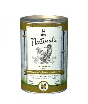 Naturals консервы для собак с индейкой