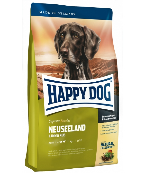 Новая Зеландия: для чувств.собак: ягненок+рис (Neuseeland)