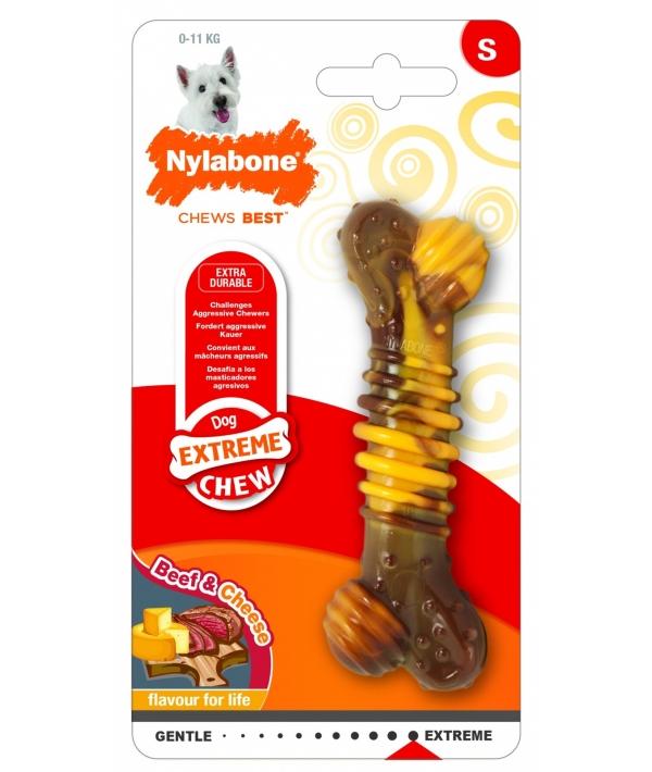 Текстурная косточка экстра – жесткая, аромат говядины и сыра, S (Extreme Chew Texture Bone – Steak & Cheese) 983433EU