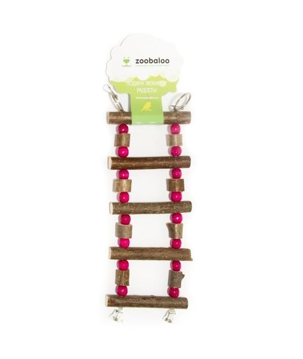 Игрушка для птиц лесенка боченки с бусинками L: 27х10 см (5353)