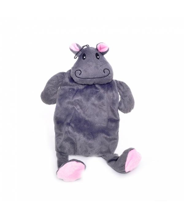 "Игрушка для собак ""Бегемот"" шуршащий, с пищалкой, плюш, 35 см (Hippo with crackle&peep)140048"